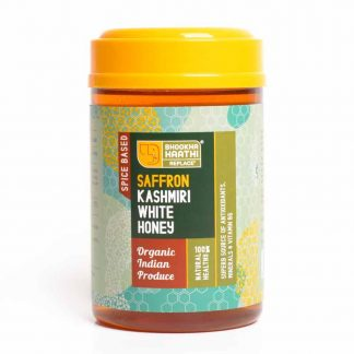 Kashmiri White Saffron Honey 600gm Front View